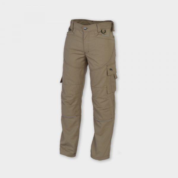 503 khaki multipocket broek voorkant