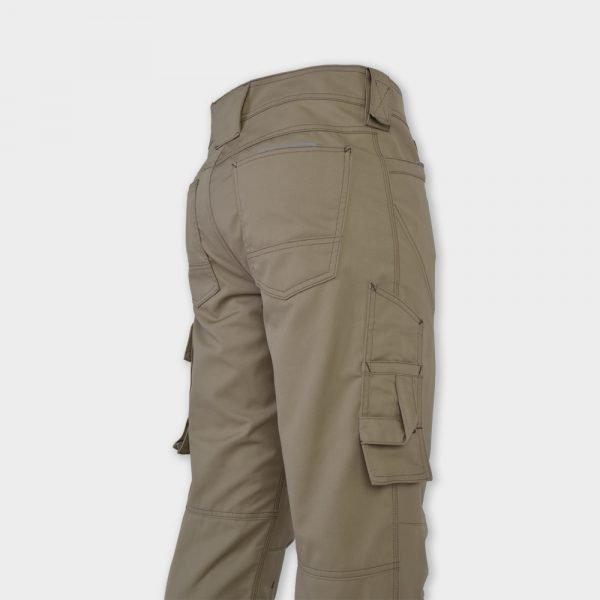 503 khaki multipocket broek zijkant